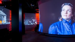 Immersive show cylindrical screen
