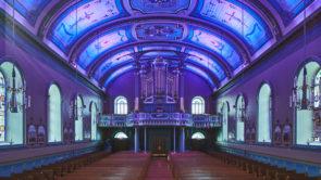 éclairage architectural église sainte-famille